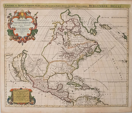 1696 Jaillot Map of North America -California Isle