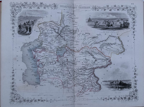 1851 Tallis 3 Maps:Russia in Europe, Asia, Tartary
