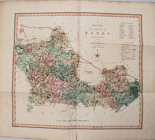 1808 Smith Map of Berkshire UK