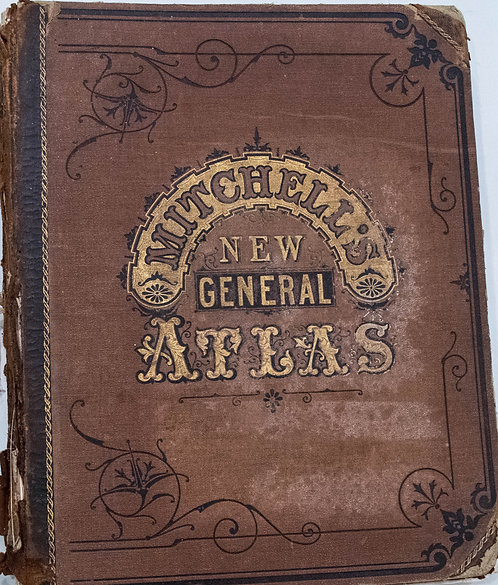 1878 Mitchell's New General US and World Atlas