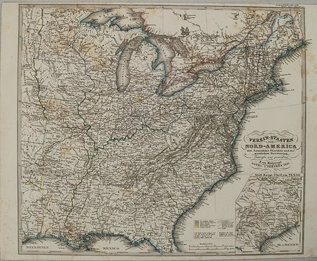 1865 Stulpnagel Map of Eastern United States