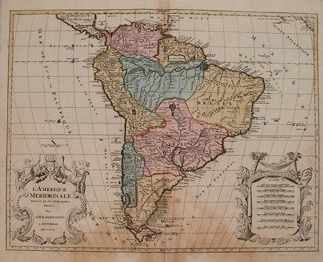 1792 Elwe Map of South America