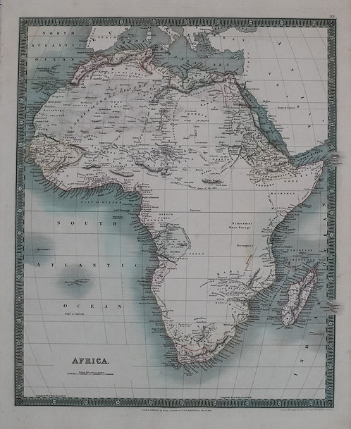 1831 Teesdale Map of Africa