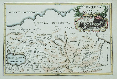1700 Cluver Map of Siberia from the Caspian Sea