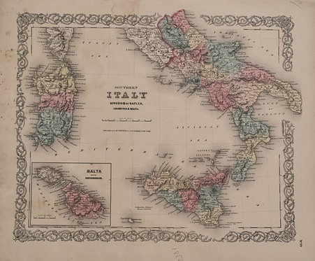 1855 Colton's Southern Italy