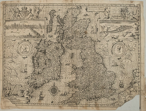 1611 Speed Map of the British Isles