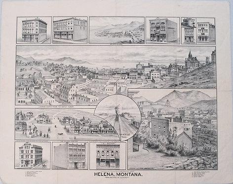 1890 Pickett Map of Helena Montana