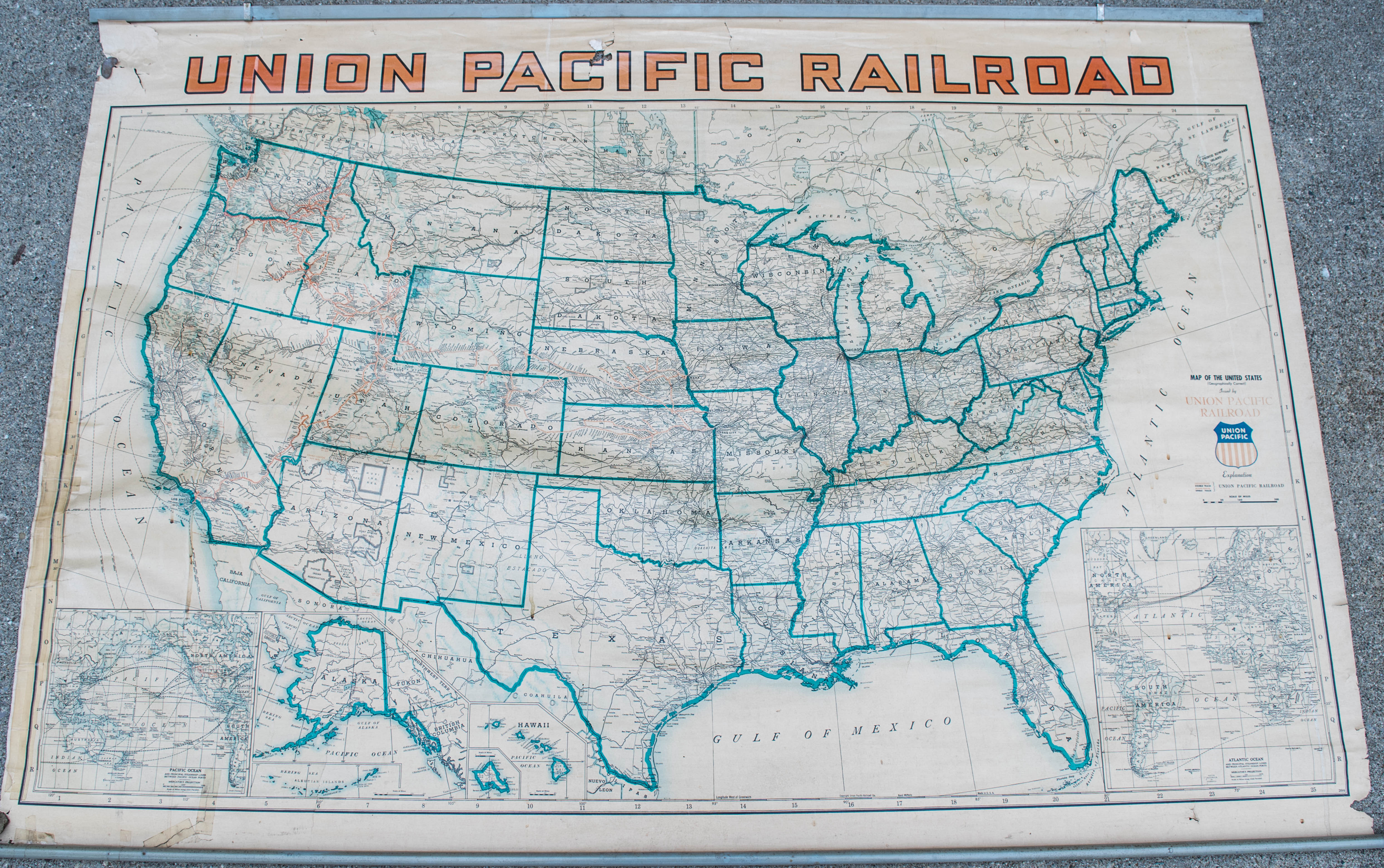 1940 Union Pacific Railroad Routes & USA Wall Map on detailed map of the usa, political map of usa, detailed map of brooklyn new york, lake winnipeg map of usa, detailed map of usa with states and cities, united states maps usa, detailed street map, county map of usa, driving road map usa, map of northern states of usa, interstate map western usa, national highway map of usa, old-style map of usa, detailed map south america, large detailed map of usa, detailed us map, detailed map of georgia usa, all map of usa, detailed map of washington dc area,