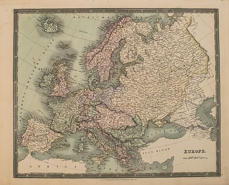 1831 Teesdale Map of Europe