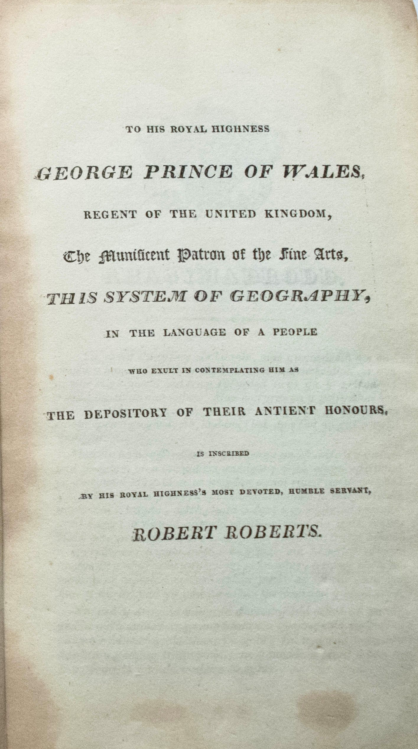 1816 Rare Welsh Language Geography Atlas Book