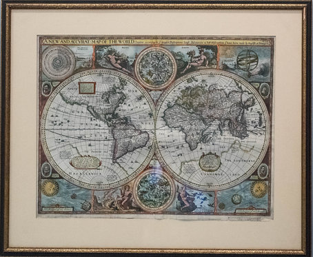 1626 Speed's World Map