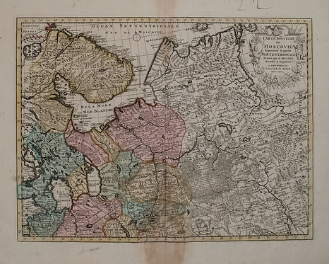1792 Elwe Map of Northern Russia in Europe