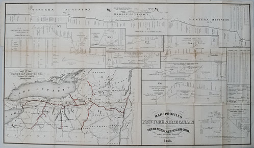 1858 Richmond map of the New York State Canals