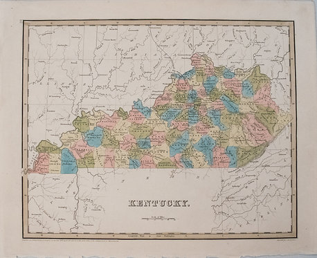 1838 Bradford Map of Kentucky