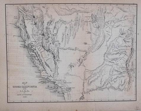 1849 Wilkes Map of Gold Rush Era California