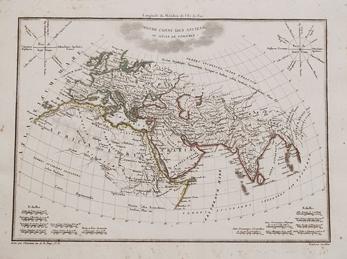 1812 Malte-Brun Map of Ancient Civilized World
