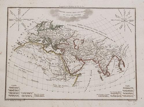 1812 Malte-Brun Map of Ancient Civilized World