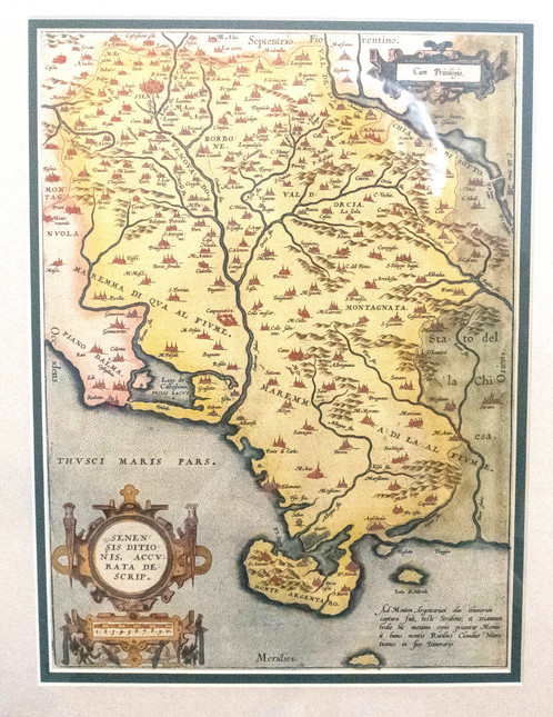 1572 ortelius map of tuscany and siena italy antique maps rare a lovely map of a portion of tuscany in italy featuring siena near the top presumed to be based on the work of cesare orlandi gumiabroncs Image collections