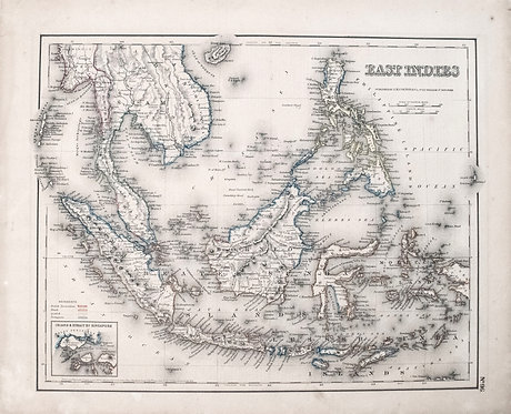 1855 Colton Map of East Indies