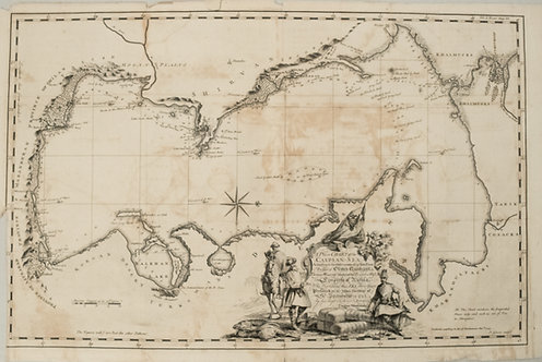 1753 Gibson Map of the Caspian Sea