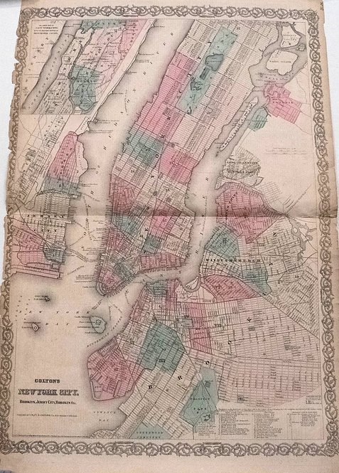 1865 Colton New York City Map