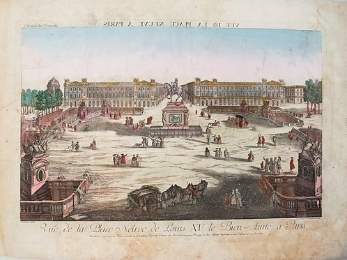1780 Moreau View of Place de la Concorde in Paris