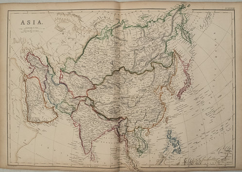 1858 Blackie Map of Asia