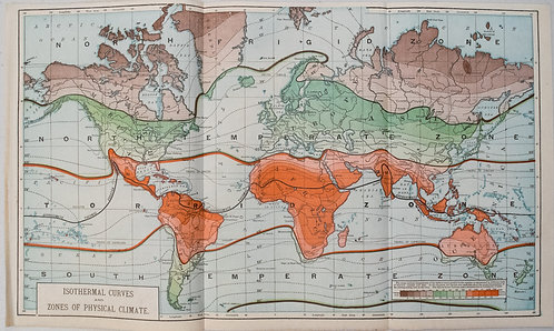 1890 c. World Climate Map