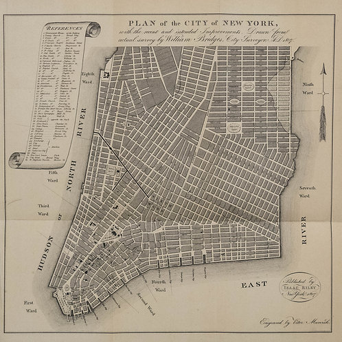 1807 but 1870 Bridges Plan for New York City