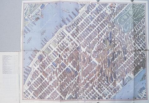 1968 Bollmann Pictorial Map of New York City