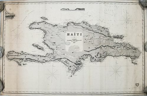 1875 Imray Nautical Chart of Hispaniola