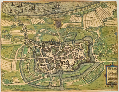 1588 Braun and Hogenberg View of State, Germany