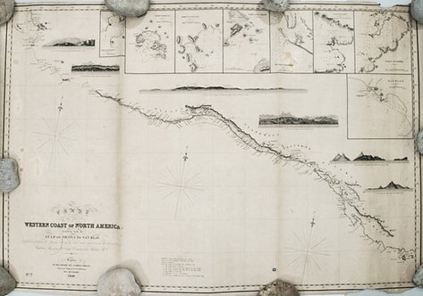 1849 Imray Chart of the Pacific Coast of Mexico to San Blas and Central America