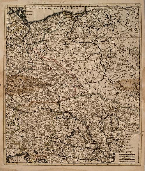 1792 Elwe Map of Central Europe-Poland through Austria and Hungary