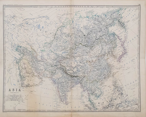 1861 A. K. Johnson Map of Asia