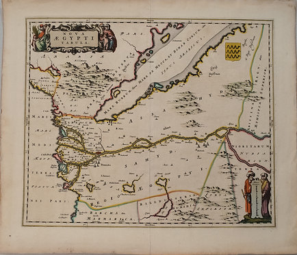 1650 Blaeu Map of Egypt
