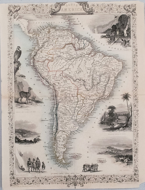 1851 Tallis Map of South America
