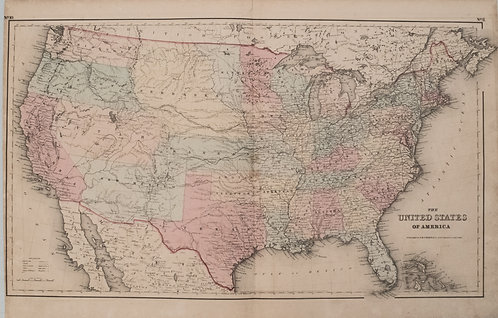 1855 Colton Map of the United States
