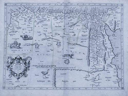 1578 Mercator Map of Egypt and Parts of N Africa