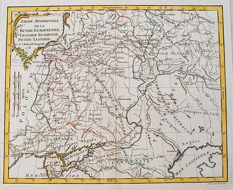 1778 Robert de Vaugoundy Map of European Russia
