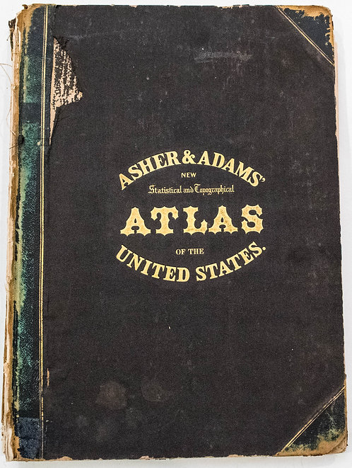 1872 Asher & Adams US and World Atlas