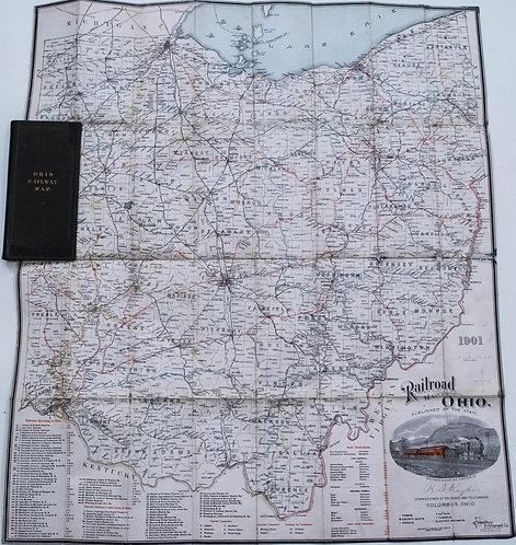 1901 Ohio Railroad Pocket Map