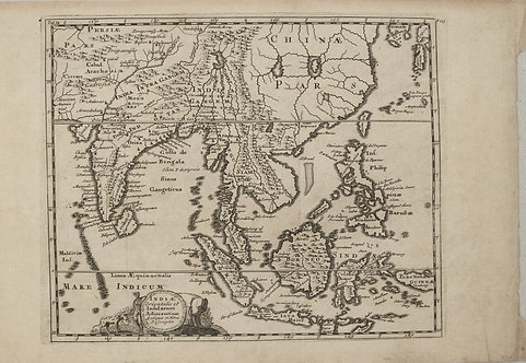1697 Cluver Map of Asia from India to Japan