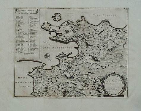 1719 c. van der Aa Map of Naples Bay