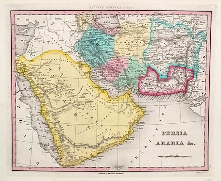1839 Tanner Map of Persia and Arabia