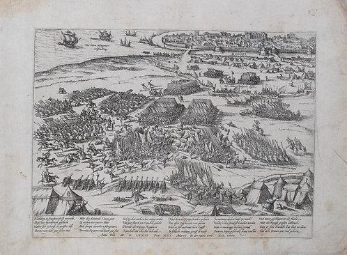 1573 Map of the Siege of La Rochelle