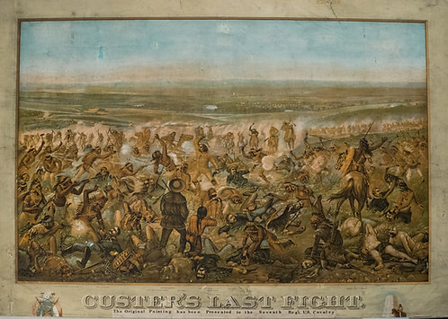 1896 Adams View of Custer's Last Fight at Little Big Horn