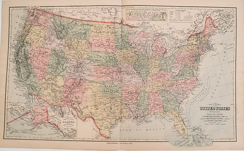 1880 Gray US Map