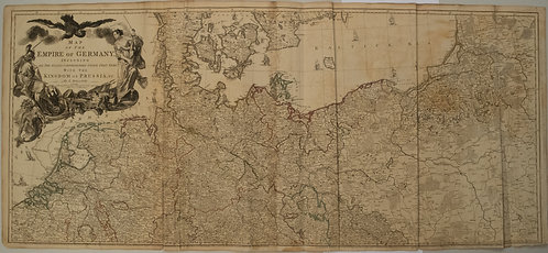 1759 Delarochette Map of the German Empire and most of Central Europe