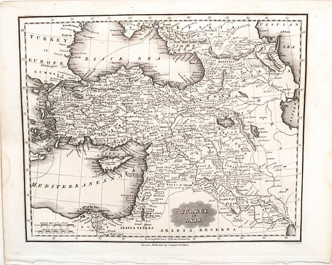 1834 Malte-Brun Map of Turkey and Middle East
